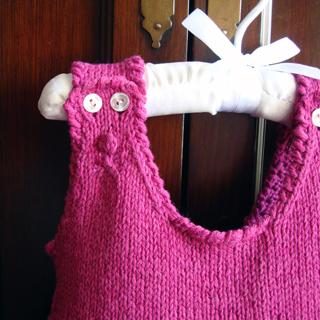 Baby Dress Knitting Pattern Ring Around The Rosie Dress