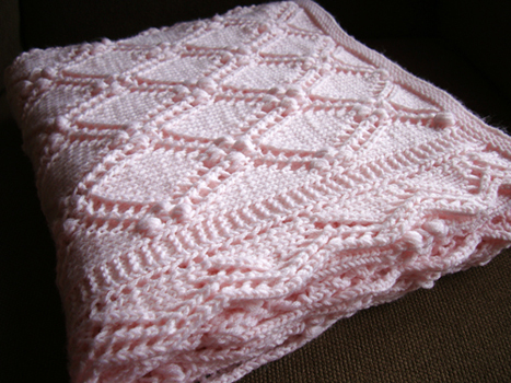 Free Knitting Patterns For Baby Blankets : Fearless Dreamer Lace Baby Blanket Knitting Patterns for ...