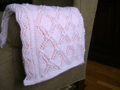 Easy Striped Ridges Baby Blanket Knitting Pattern