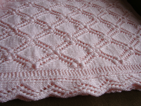 Free Knitting Patterns For Lacy Blankets : Lace Baby Blanket Pattern   Catalog of Patterns
