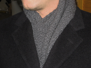 Knitting Scarf Patterns For Men : The Rules: Black and white style Scarves Men Knitting Patterns