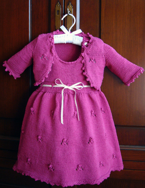 Free Baby Crochet Pattern Dress And Bolero : Baby Shrug Bolero Knitting Pattern - Ring Around the Rosie