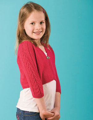 Childrens Shrug Knitting Pattern : Summer Childrens Knitting Pattern - Surfer Girl Shrug
