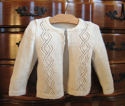 Easy Lace Sweater Knitting Pattern for Toddler, Child