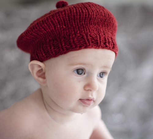 Felted Knit Hat Patterns : Easy Baby Knitting Patterns Windmill Beret