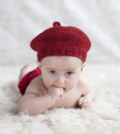 Knitted Beret Pattern Toddler : Easy Baby Knitting Patterns Windmill Beret