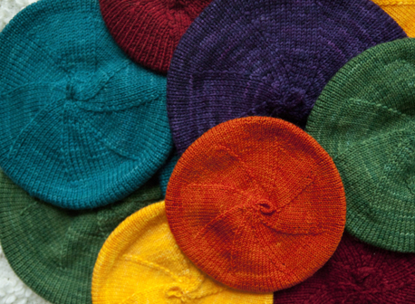 Free Knitting Patterns For Berets : Easy Baby Knitting Patterns Windmill Beret