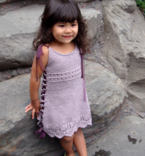 Little Girl Big Girl Dress Tunic Knitting Pattern
