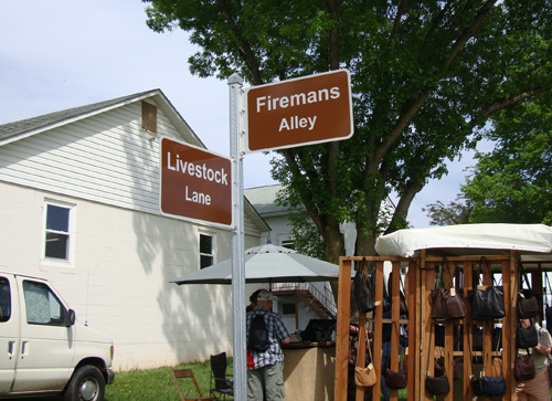 Corner of Livestock Lane and Firearms alley