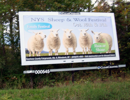 NY Sheep & Wool Billboard