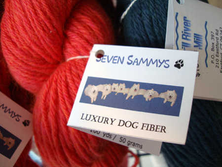 Yarn made from dog hair
